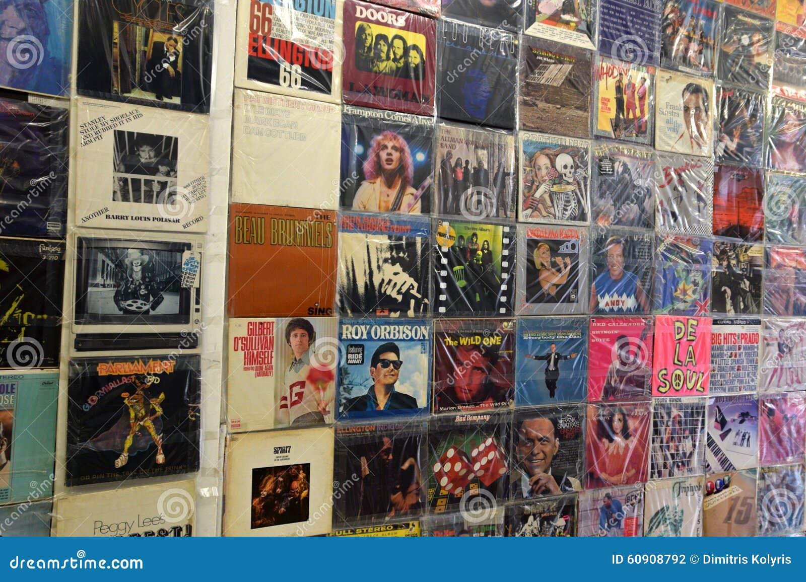 Vintage Pop Music Vinyl Records Editorial Photography