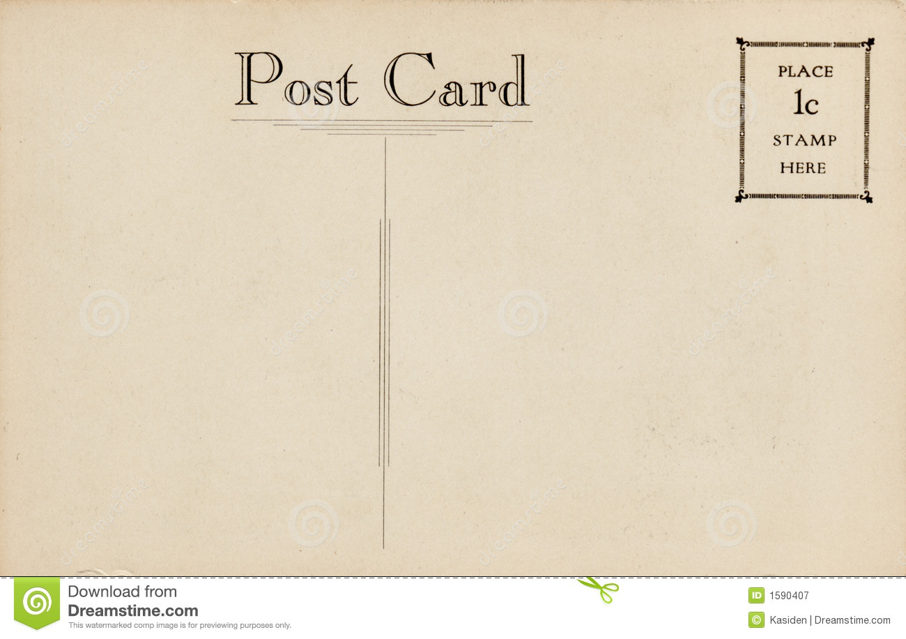 Italian handwritten postcard letter stock photo image 39254147 - Vintage Postcard 1 Cent Stamp Royalty Free Stock Photography