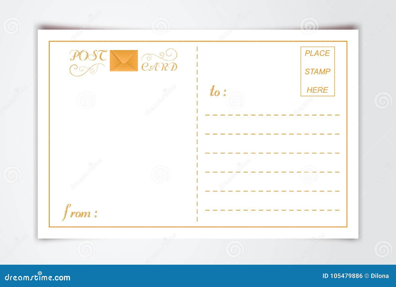 Modern Postcard Inner Reverse Side Blank Template With Logo ...