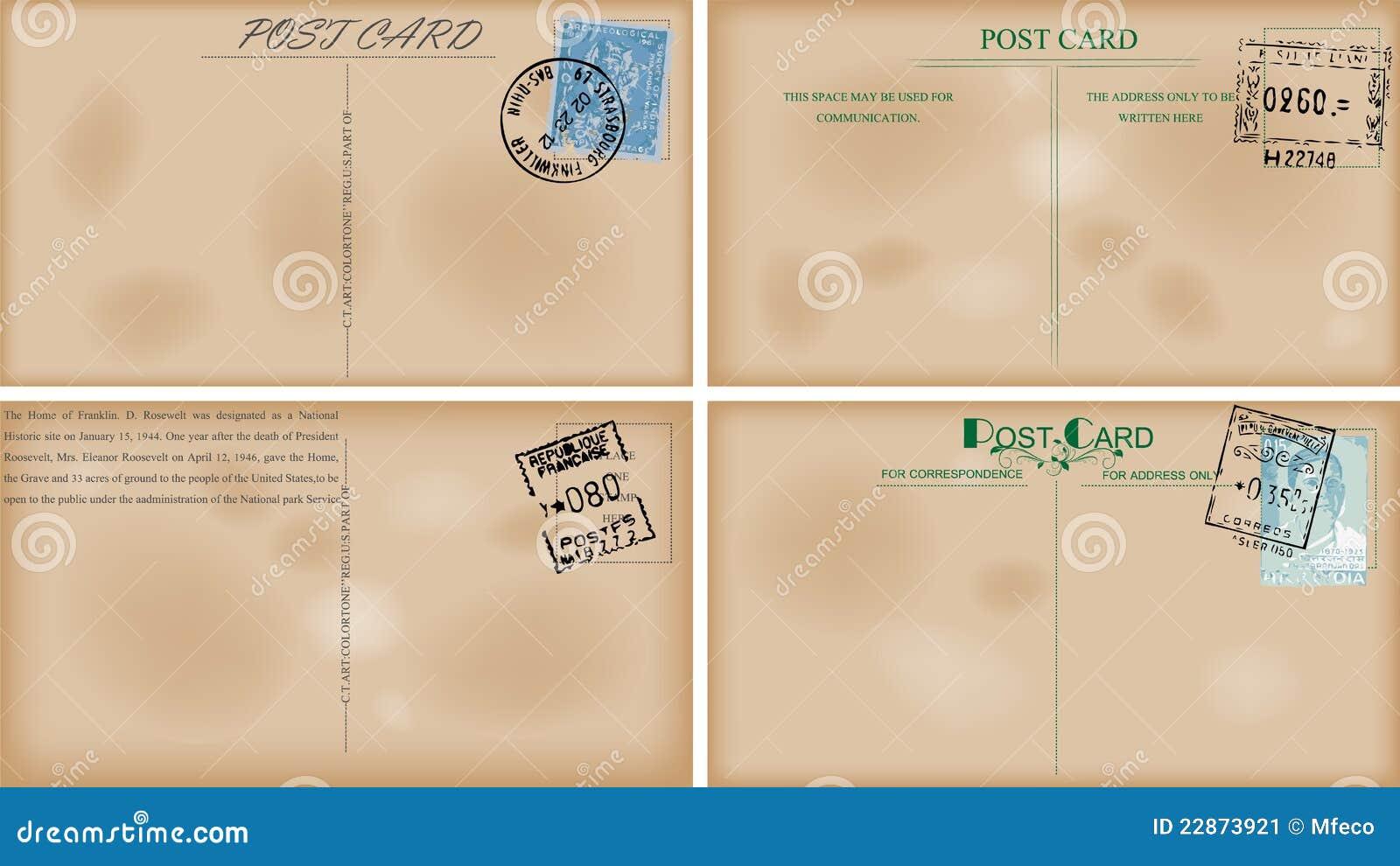 vintage postcard designs stock image image 22873921
