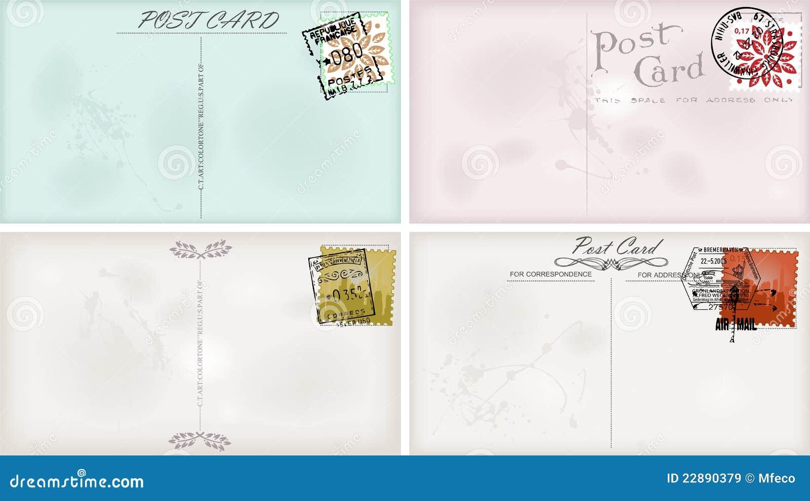 vintage postcard designs royalty free stock images image