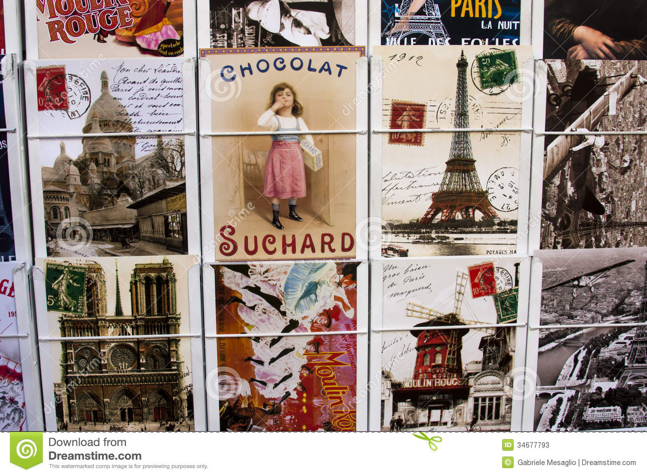 Antique postcards france