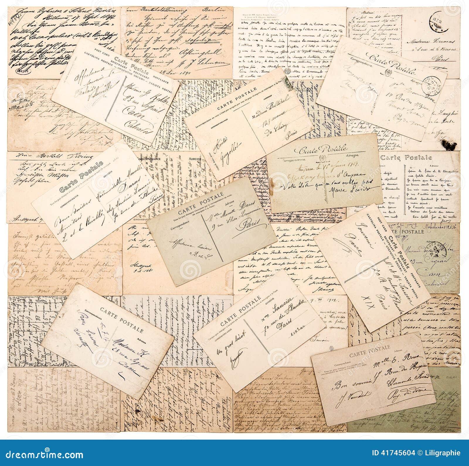 Italian handwritten postcard letter stock photo image 39254147 - Vintage Postcards Handwritten Undefined Texts Stock Images