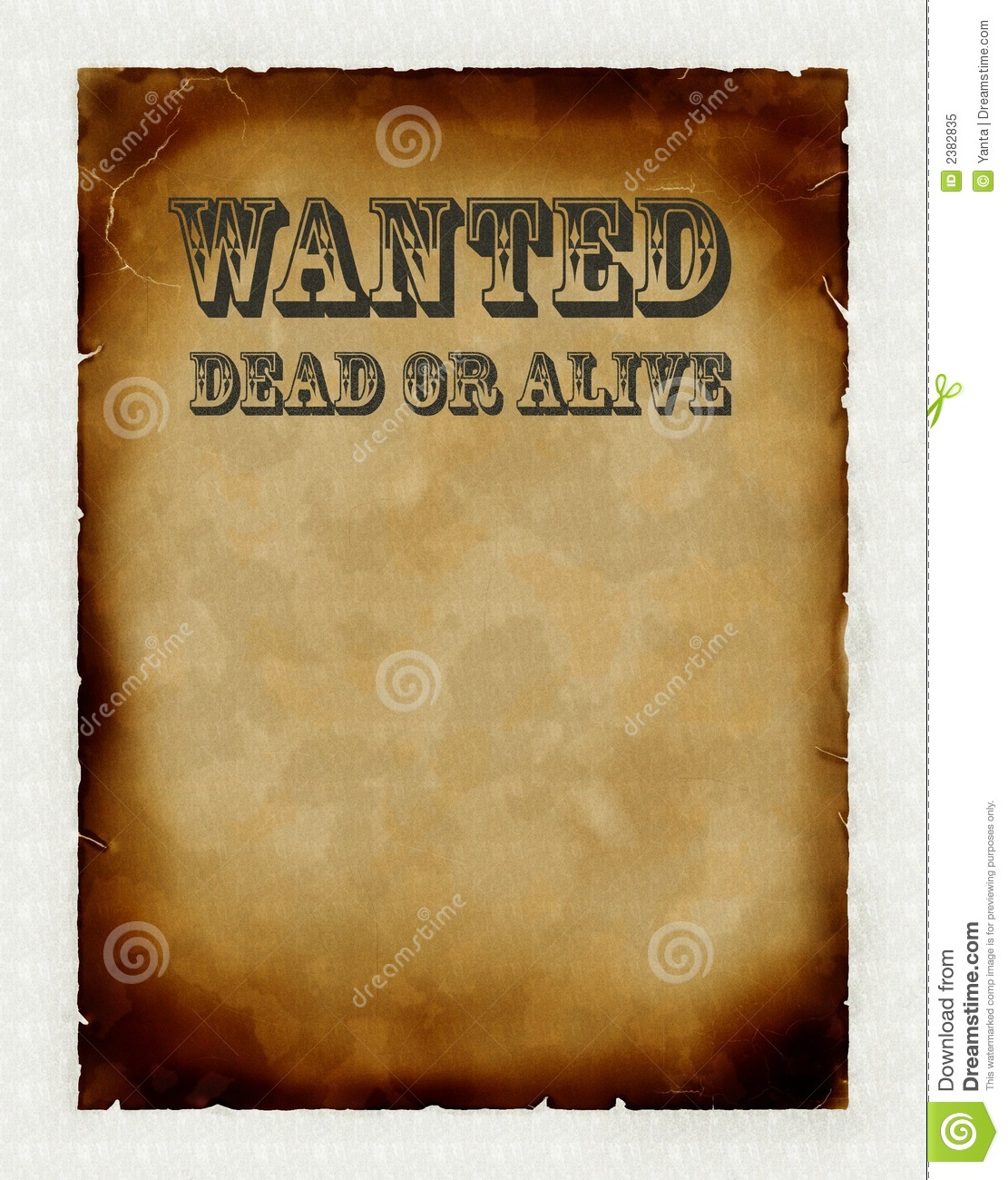 Vintage poster royalty free stock photo image 2382835 for Wanted dead or alive poster template free