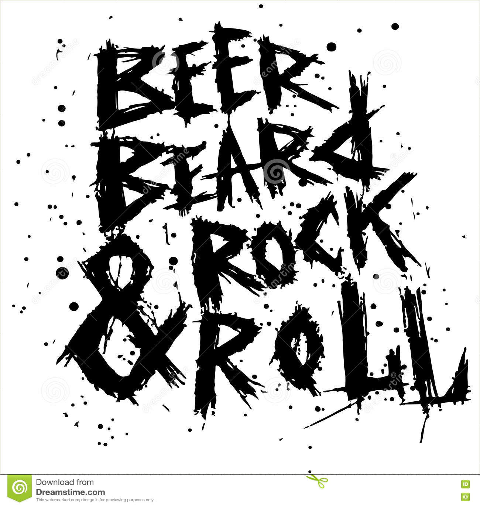 beer and rock n roll cartoon vector