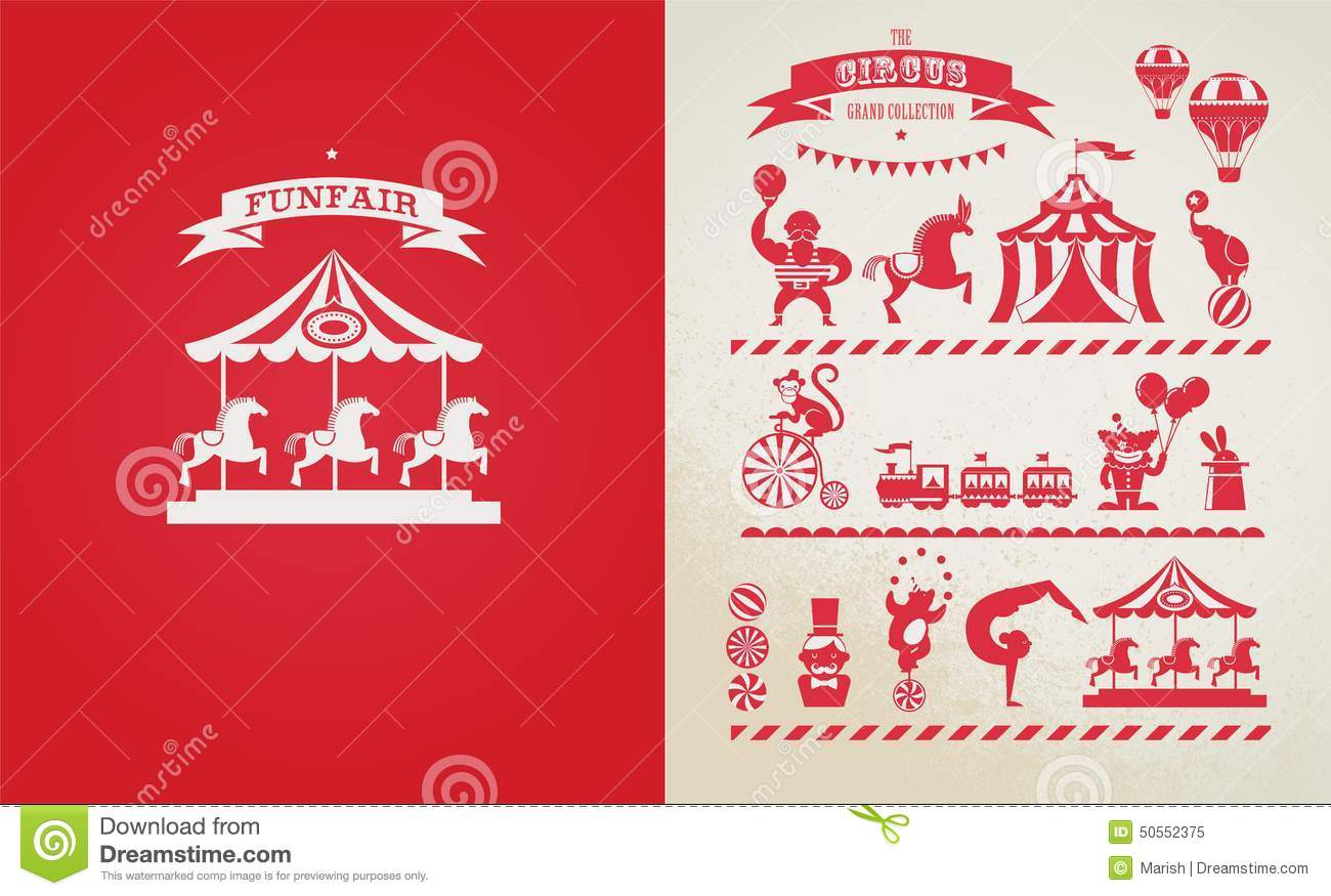 Vintage Fair Clip Art Vintage poster with carnival