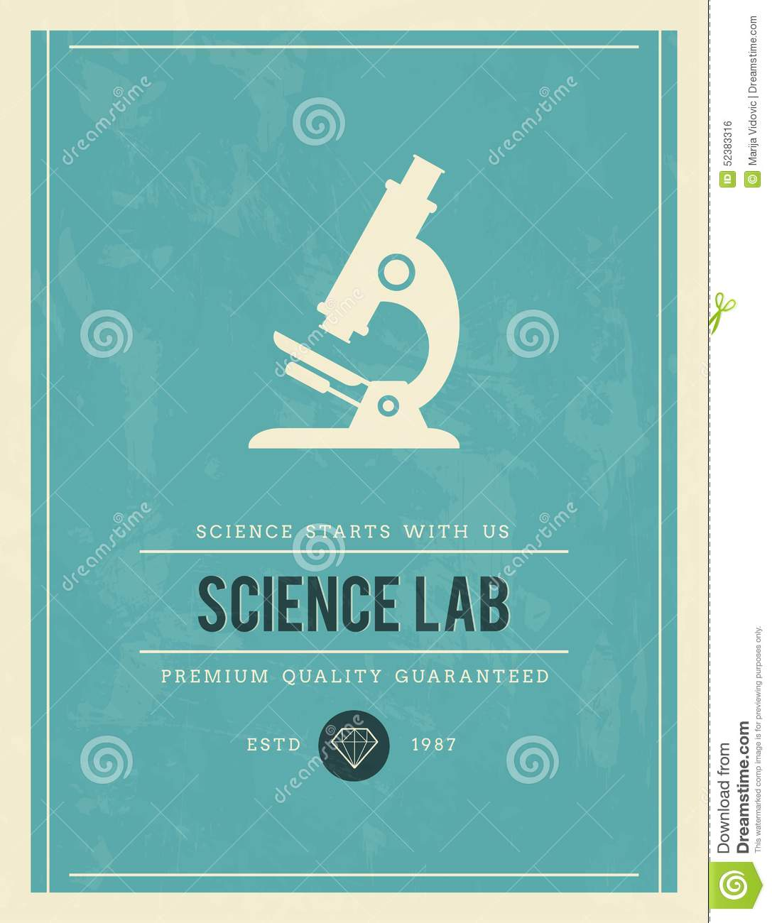 vintage poster for science lab stock vector
