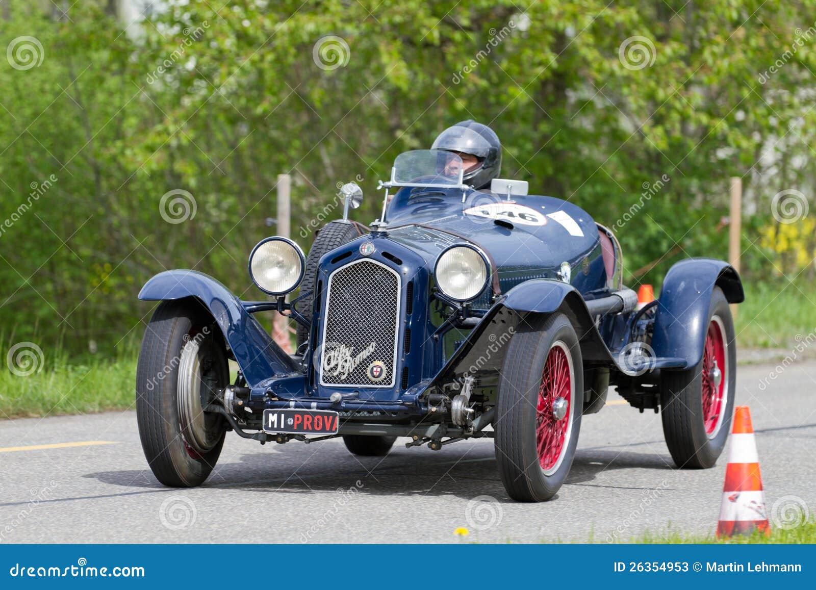 vintage pre war race car alfa romeo editorial stock photo. Black Bedroom Furniture Sets. Home Design Ideas