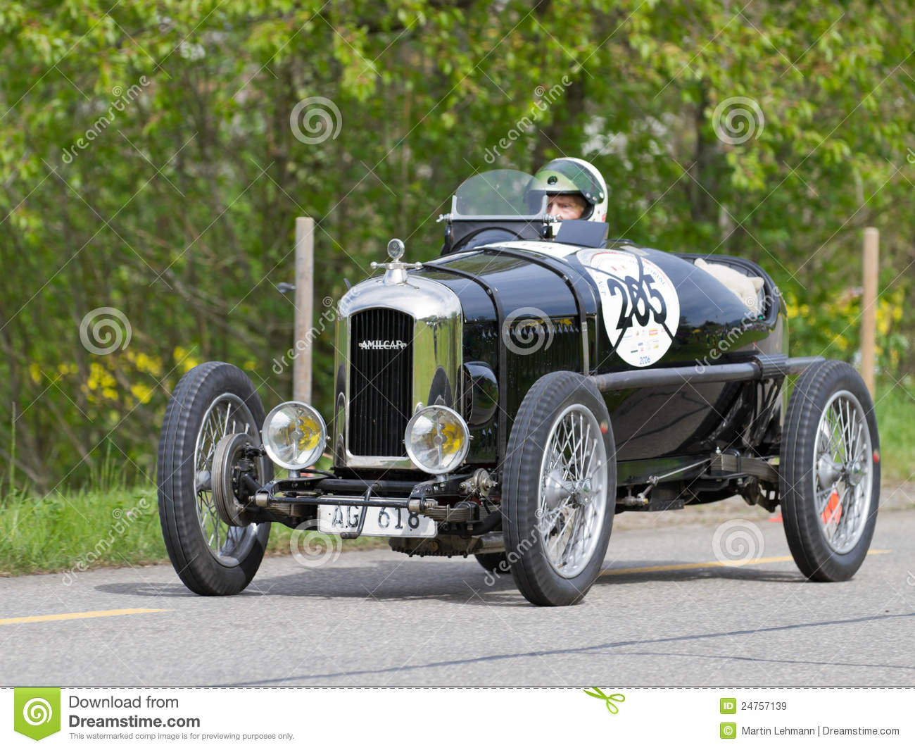 Vintage Pre War Race Car Amilcar CG Editorial Stock Image