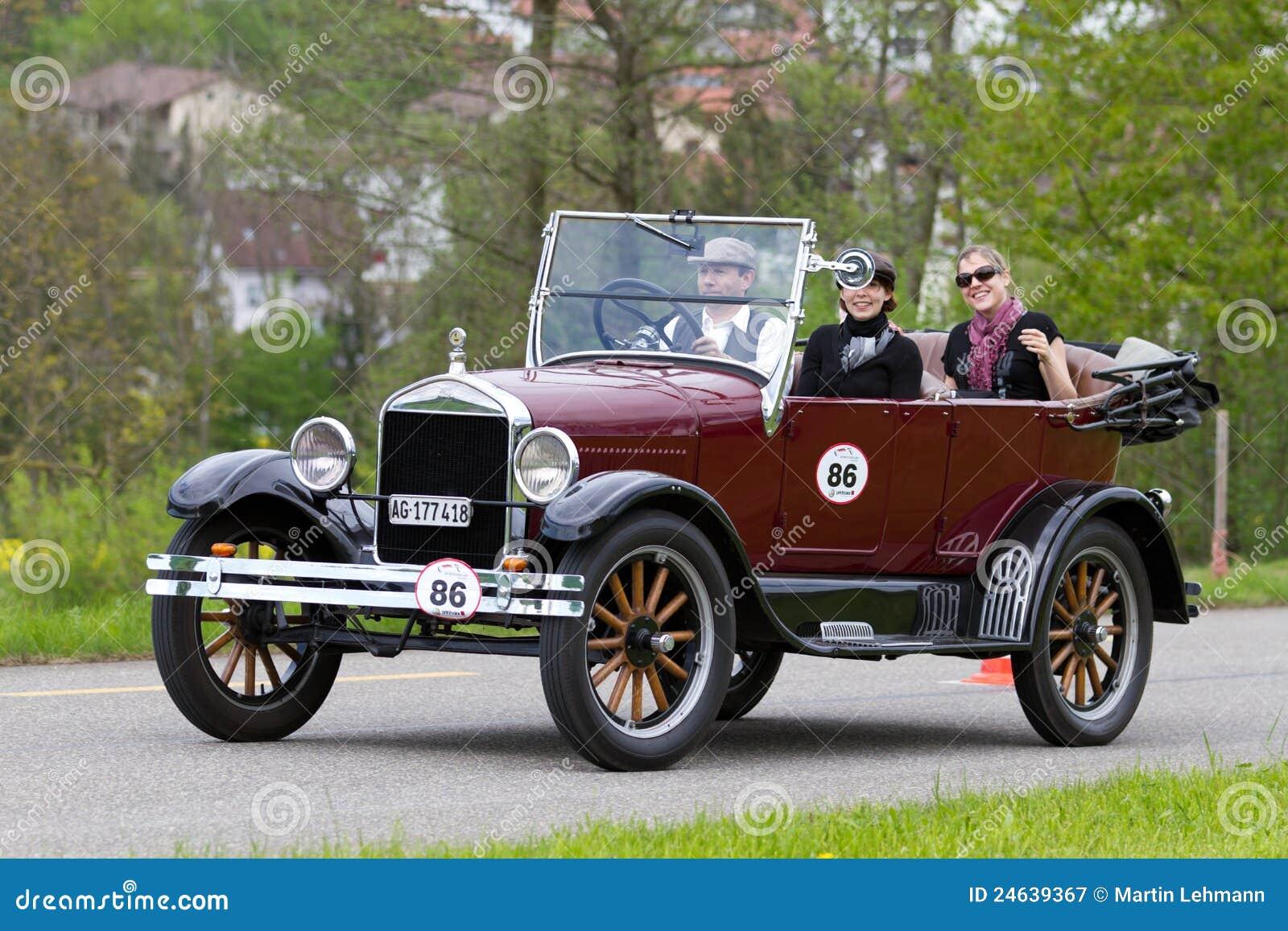 vintage pre war race car ford t tourer from 1926 editorial. Black Bedroom Furniture Sets. Home Design Ideas