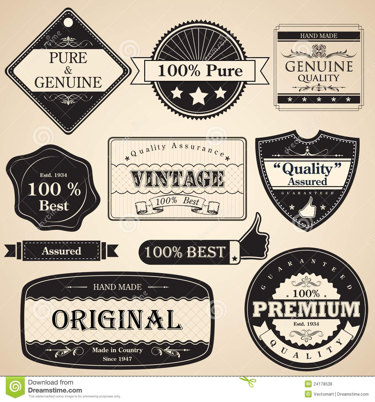 Vintage Premium Quality Label Royalty Free Stock Photos - Image ...