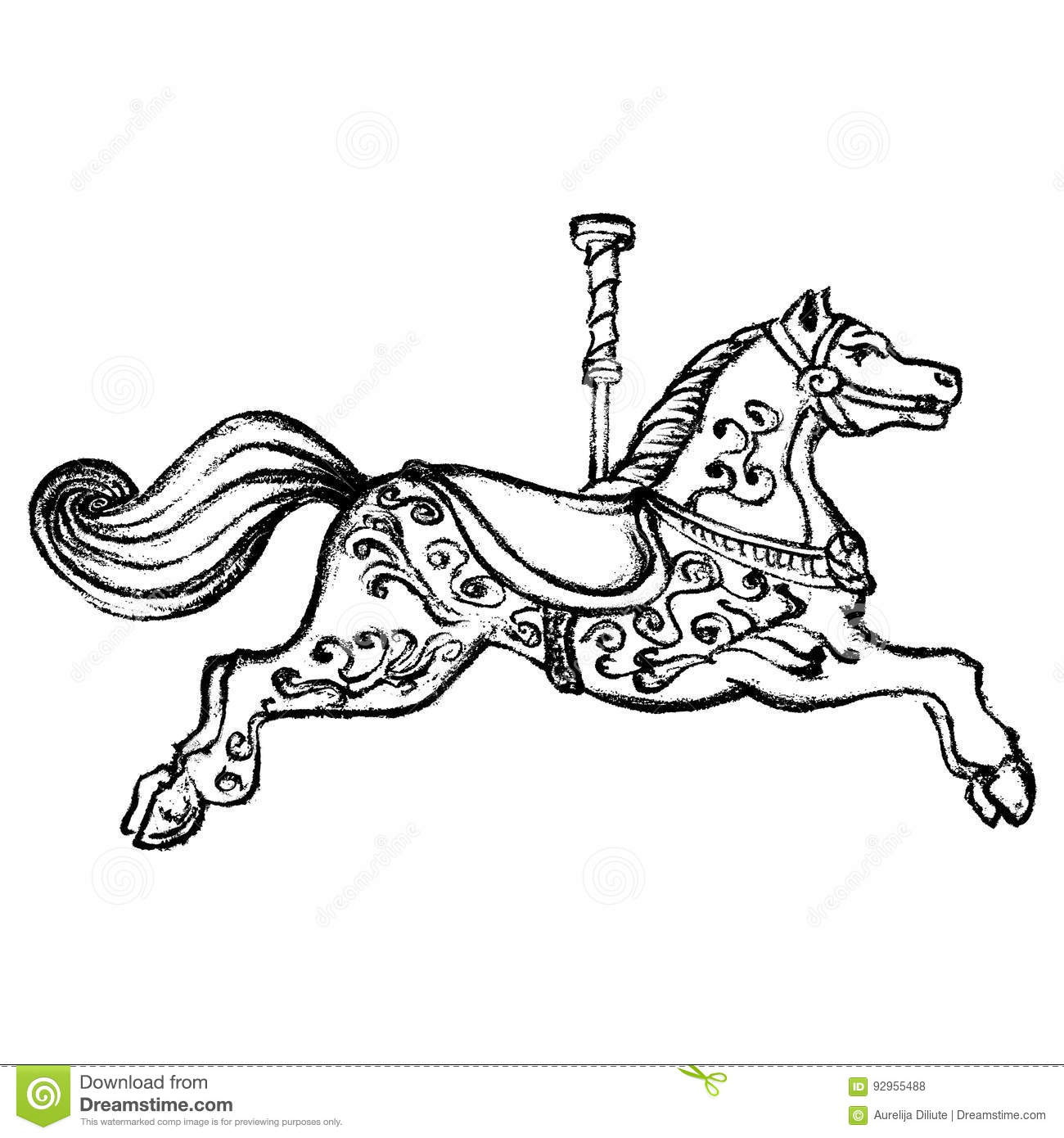 Vintage Carousel Horse Black White Stock Illustrations 77 Vintage Carousel Horse Black White Stock Illustrations Vectors Clipart Dreamstime