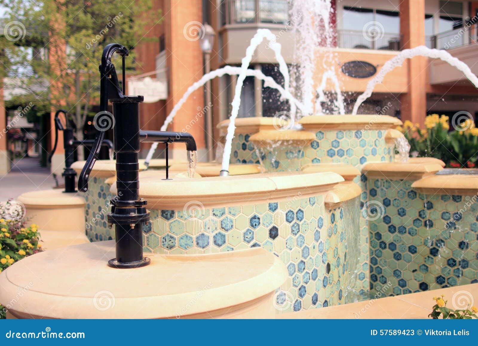 Water fountains virginia - Vintage Pump Water Fountain