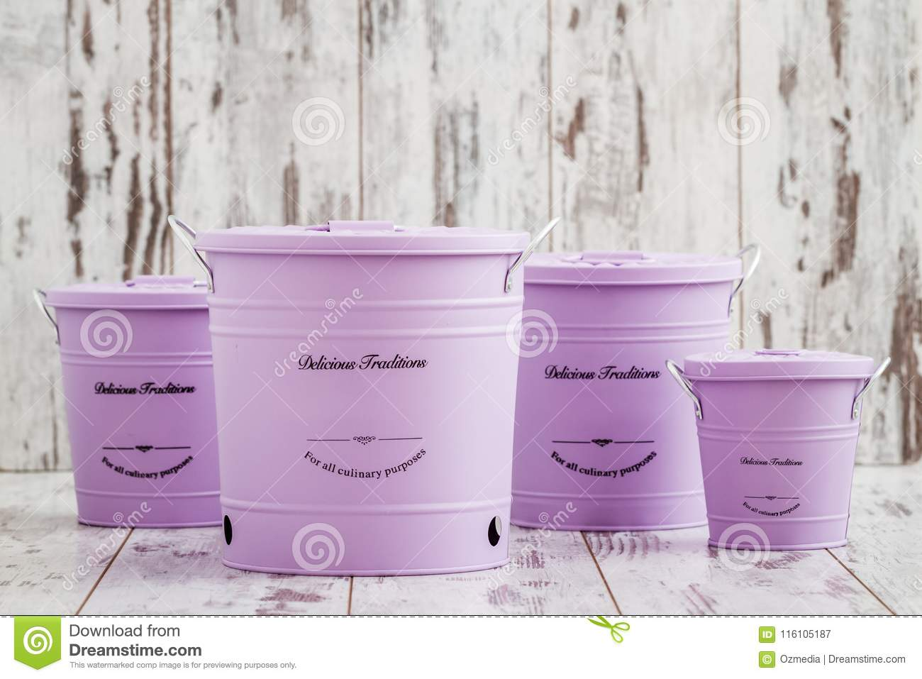 Download Vintage Purple Potato Onion And Garlic Storage Containers On Whi  Stock Image   Image Of