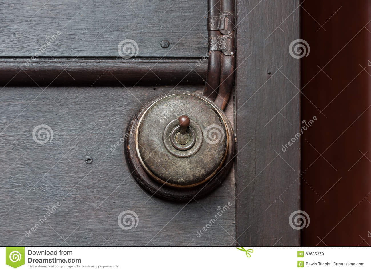 A Vintage Put Light Switch On Wooden Interior Wall Stock Image ...