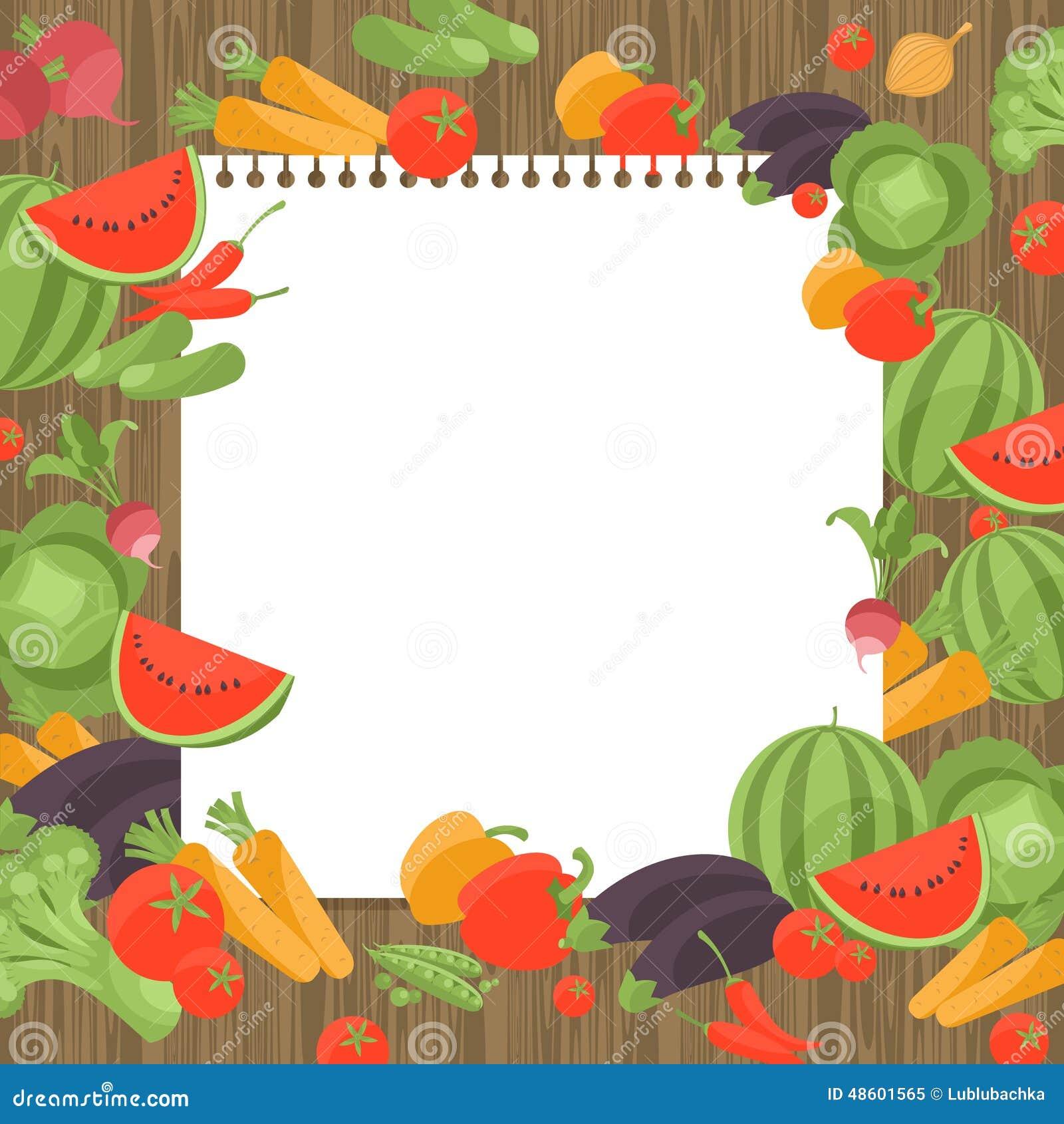 Vintage Que Cocina La Página De La Receta Del Libro Con Las Verduras ...