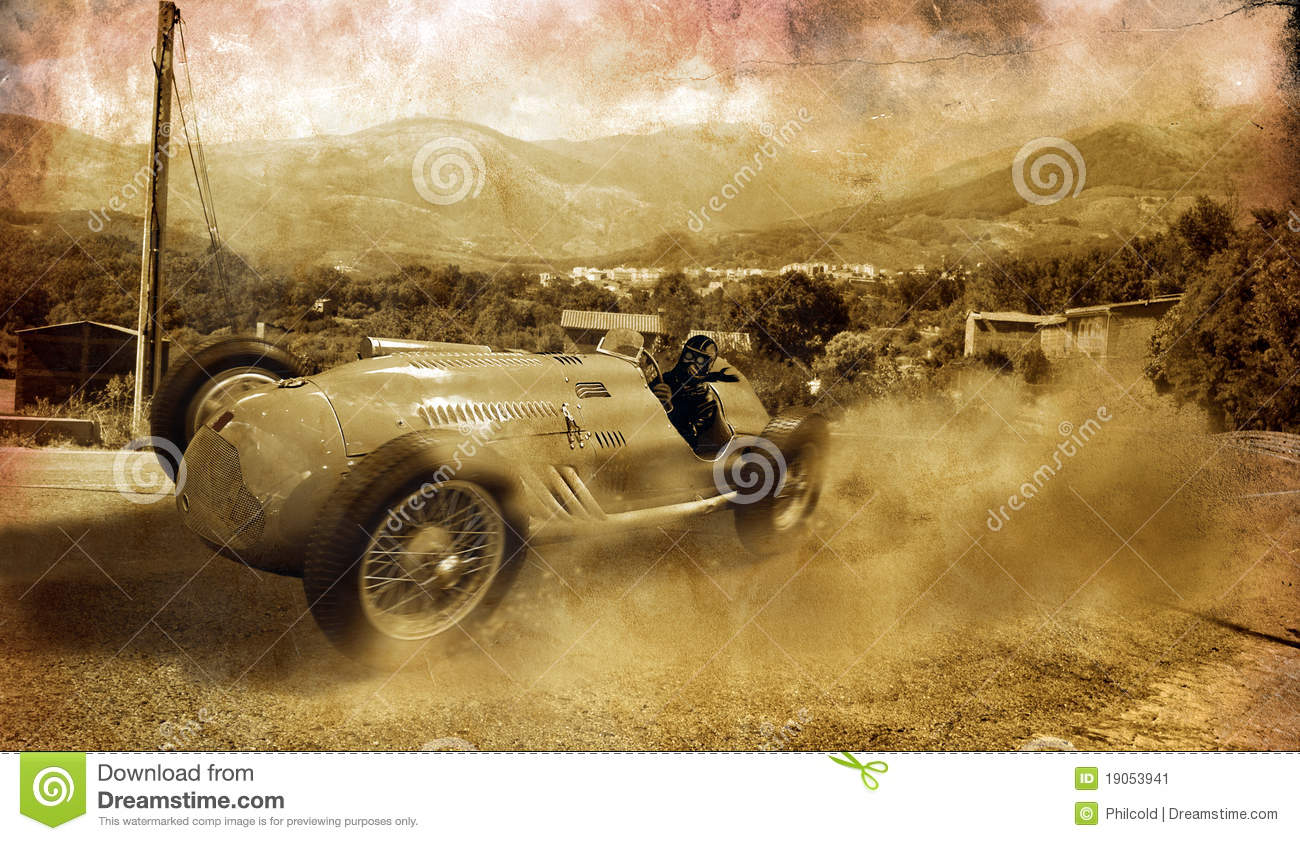 Vintage race car stock image. Image of nostalgia, nostalgic - 19053941