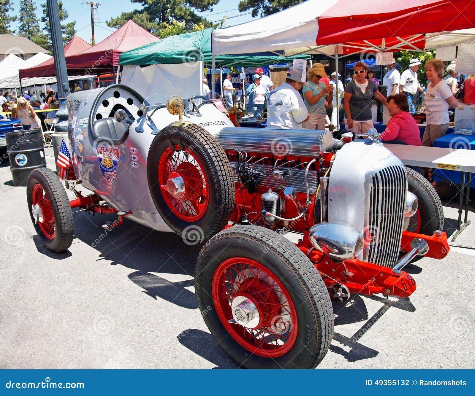 Vintage Race Car Editorial Photography