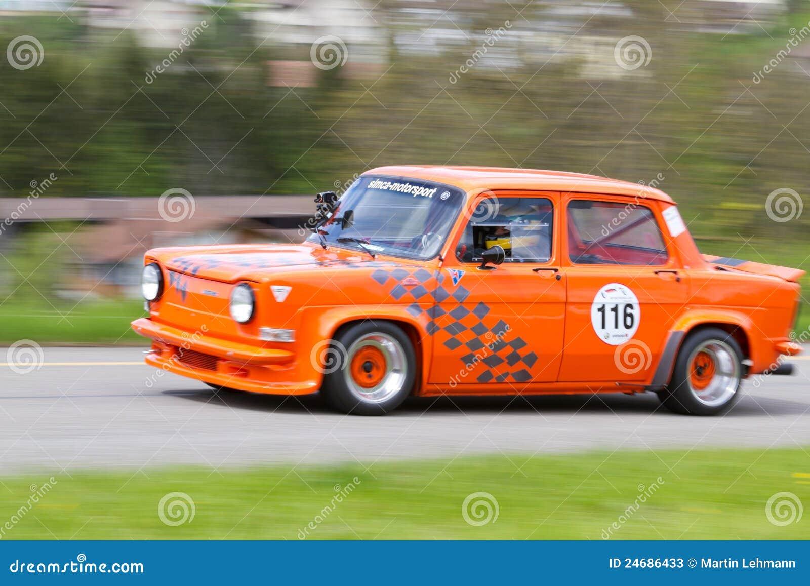 Vintage Race Touring Car Simca Editorial Stock Photo ...