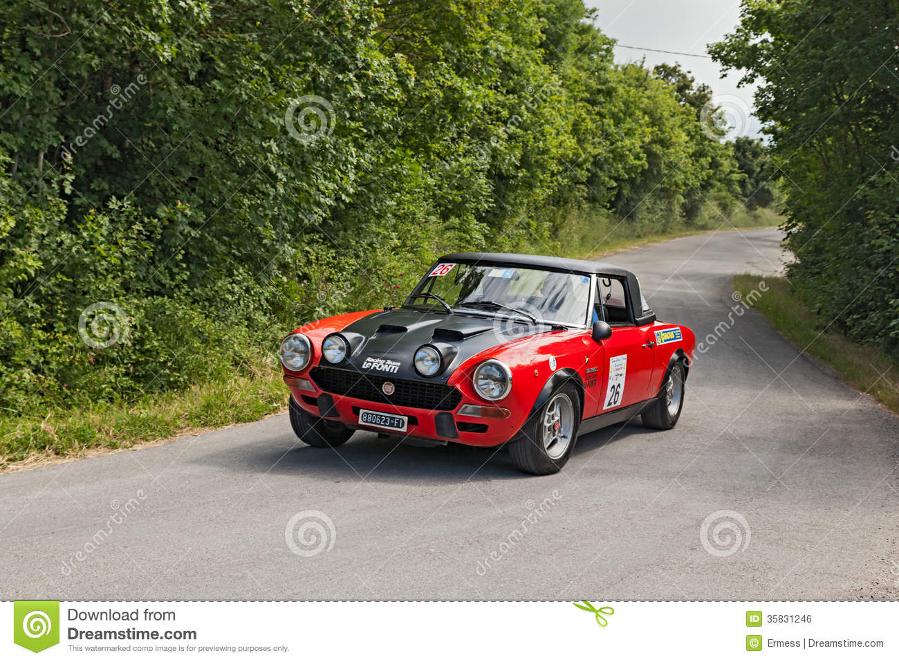 Fiat 124 Abarth Rally Car Stock Photos Royalty Free Pictures