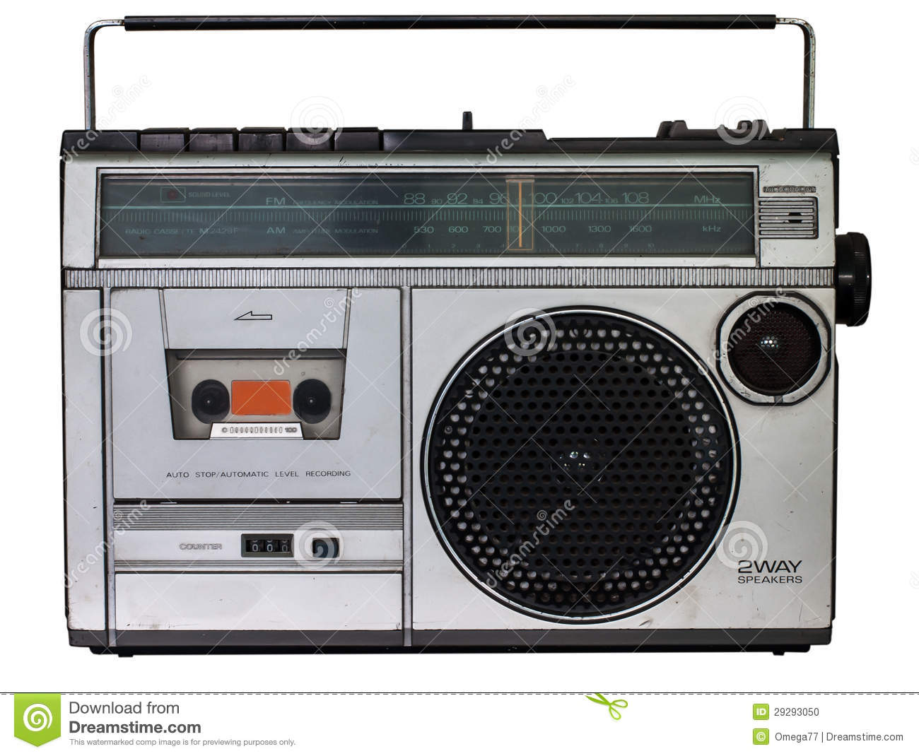 vintage radio cassette recorder stock photo image 29293050. Black Bedroom Furniture Sets. Home Design Ideas