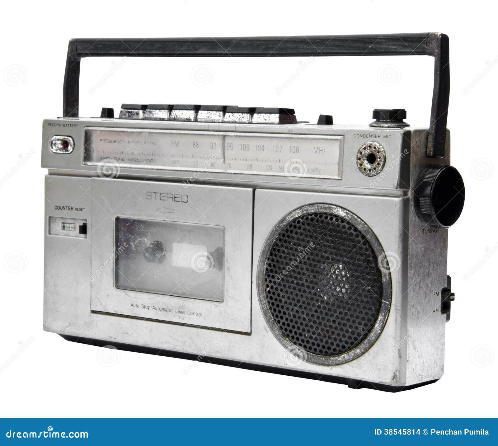 vintage radio cassette recorder stock images image 38545814. Black Bedroom Furniture Sets. Home Design Ideas