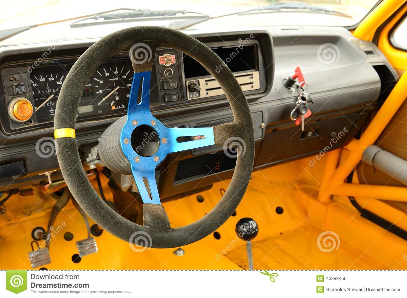 vintage rally car inside stock image image of retro 40388455. Black Bedroom Furniture Sets. Home Design Ideas