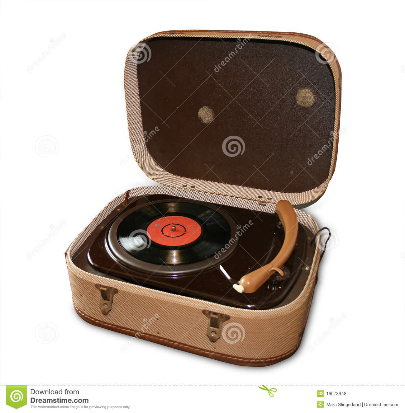 vintage player time music record