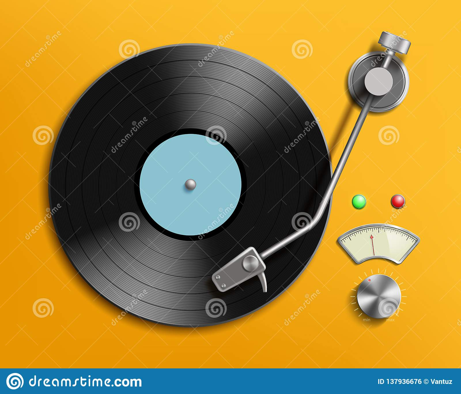 vintage record player with retro vinyl disc stock vector illustration of rock disco 137936676 https www dreamstime com vintage record player retro vinyl disc vector realistic illustration image137936676