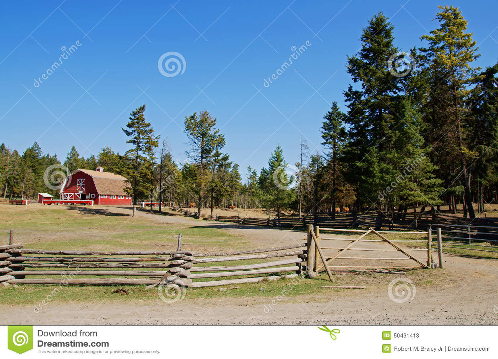 Vintage red barn ranch