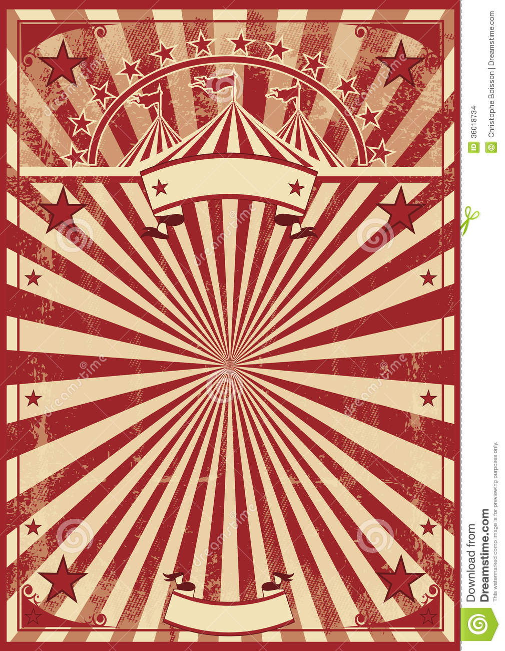 Vintage Circus Poster Background A vintage circus poster for