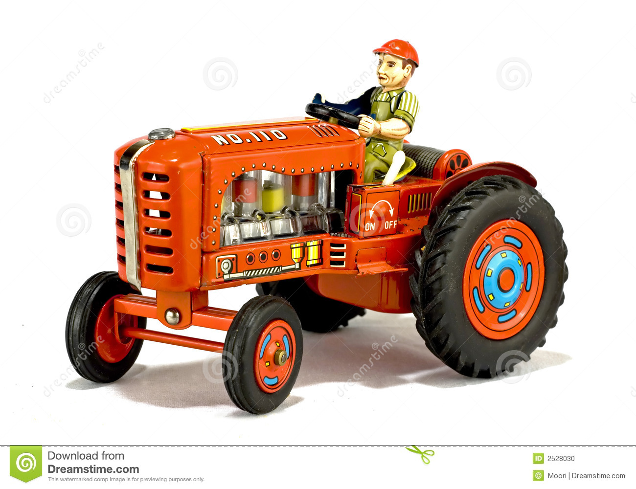 Trat Er Toy : Vintage red tractor toy stock photo image of vehicle