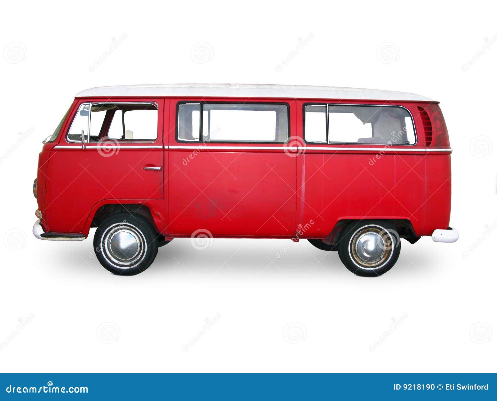 Vintage red van stock photo. Image of flag, vehicle ...
