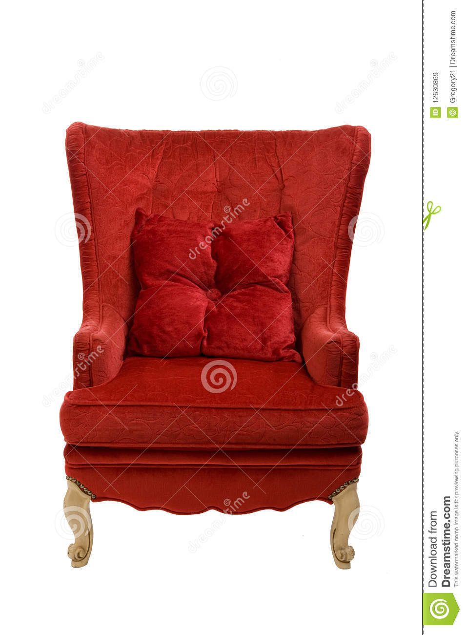 Red velvet chair - Royalty Free Stock Photo Download Vintage Red Velvet Chair