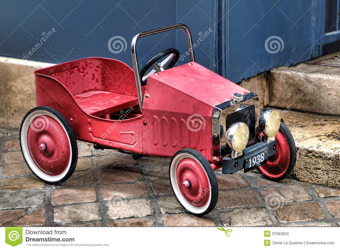 Vintage Reproduction French Pedal Red Toy Car Stock Image Image Of