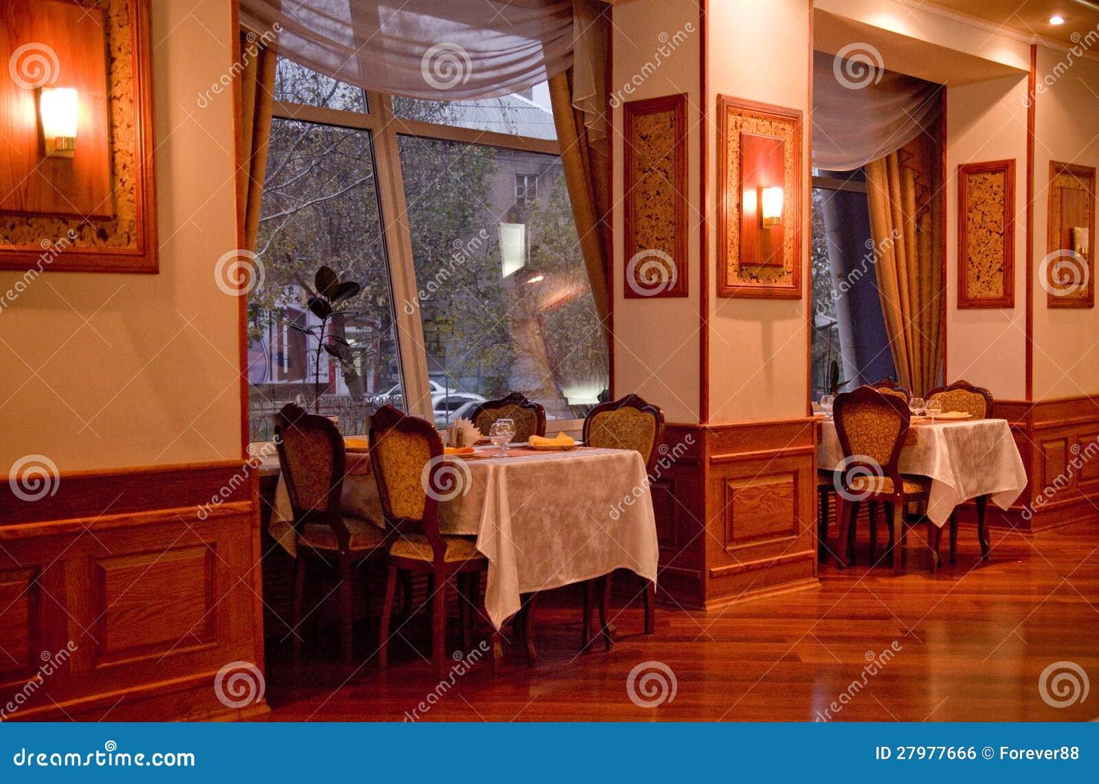 Vintage restaurant interior royalty free stock image