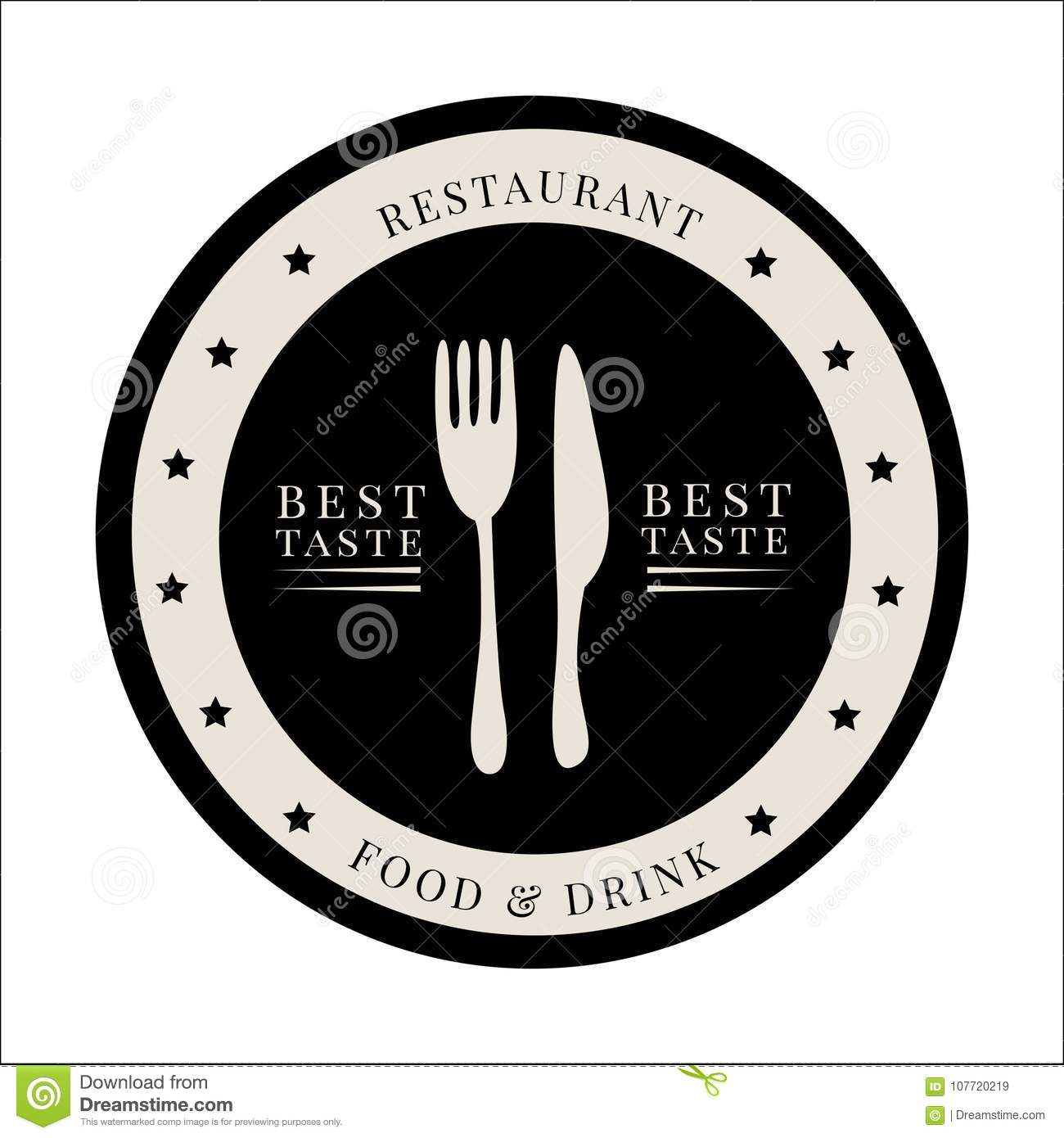 vintage restaurant vector image stock vector illustration of grill