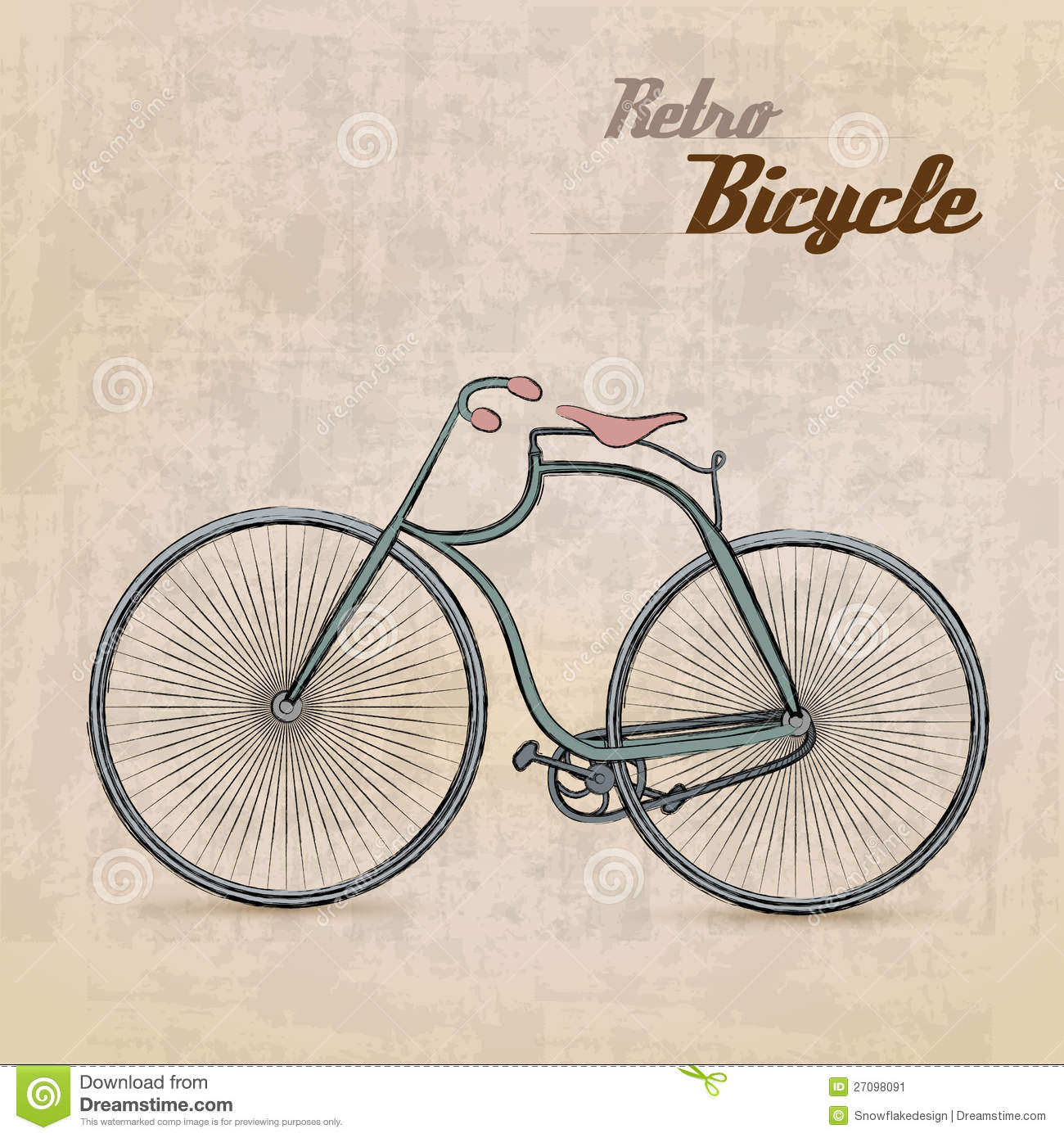 Vintage retro bicycle stock vector illustration of - Retro vintage ...
