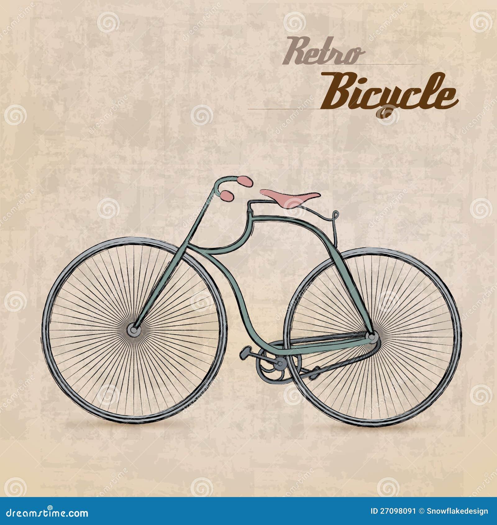 Vintage Retro Bicycle stock vector  Illustration of cyclist - 27098091