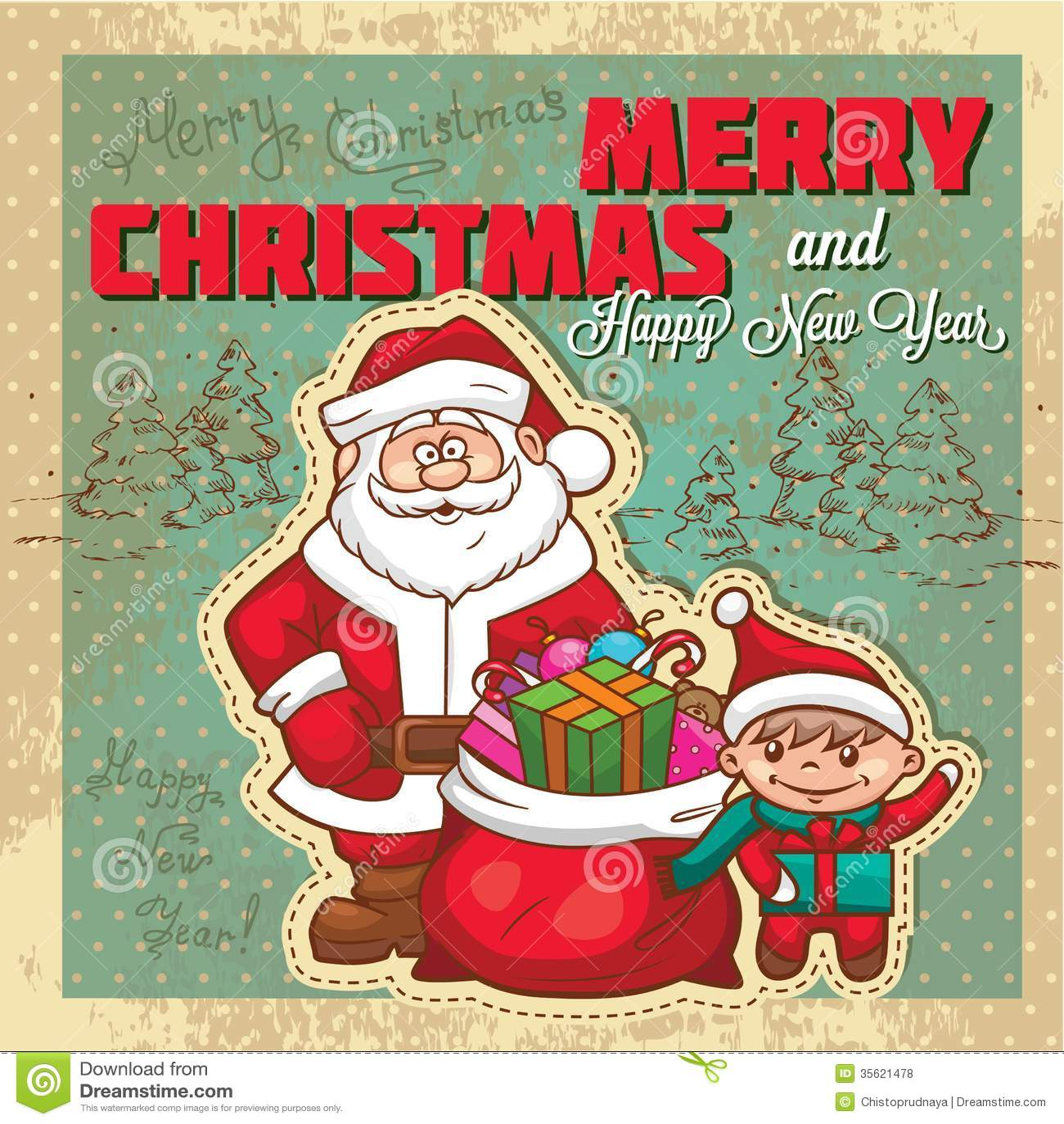 Retro Christmas Invitation Card Royalty Free Stock Images - Image ...