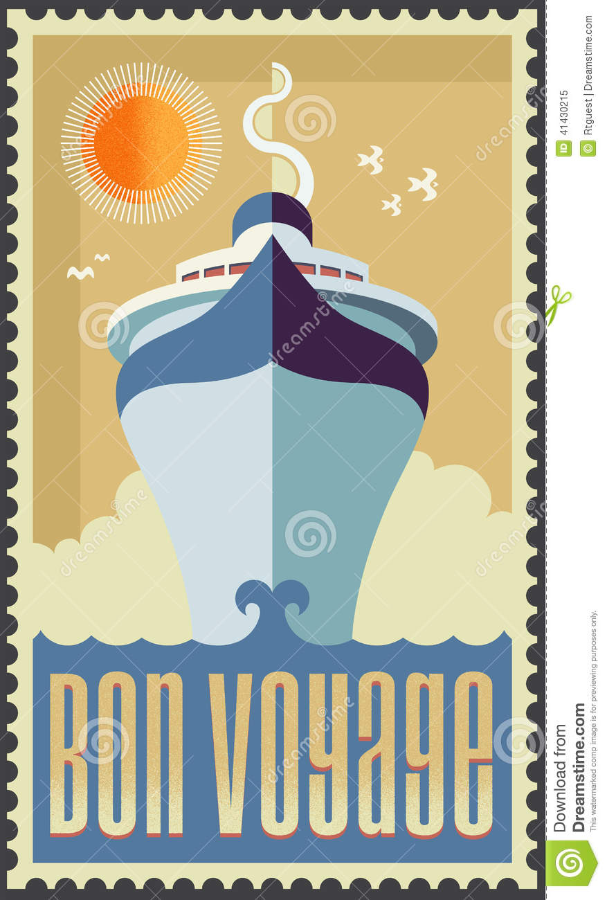 vintage retro cruise ship stock vector  illustration of