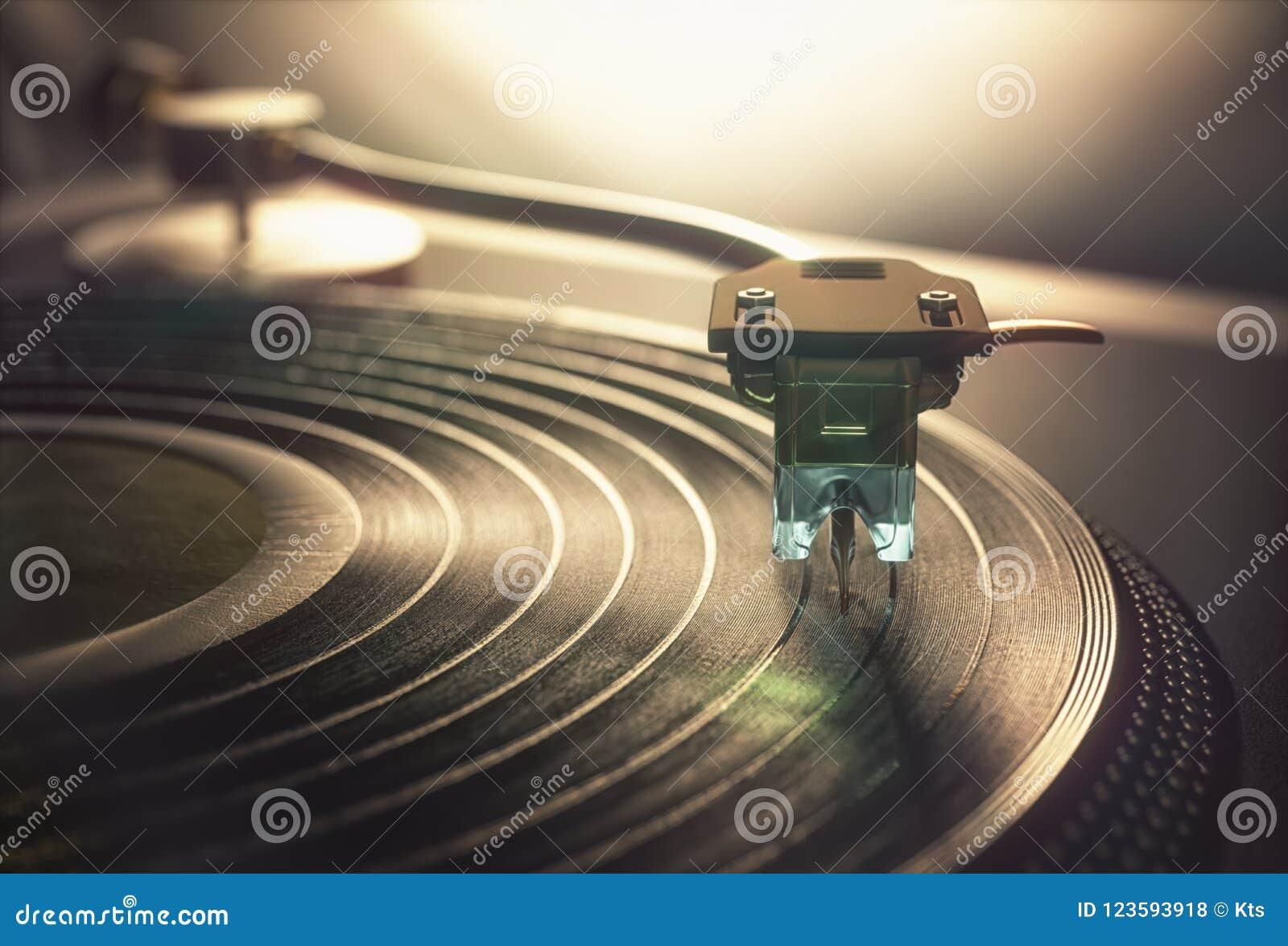Vintage retro del disco de vinilo