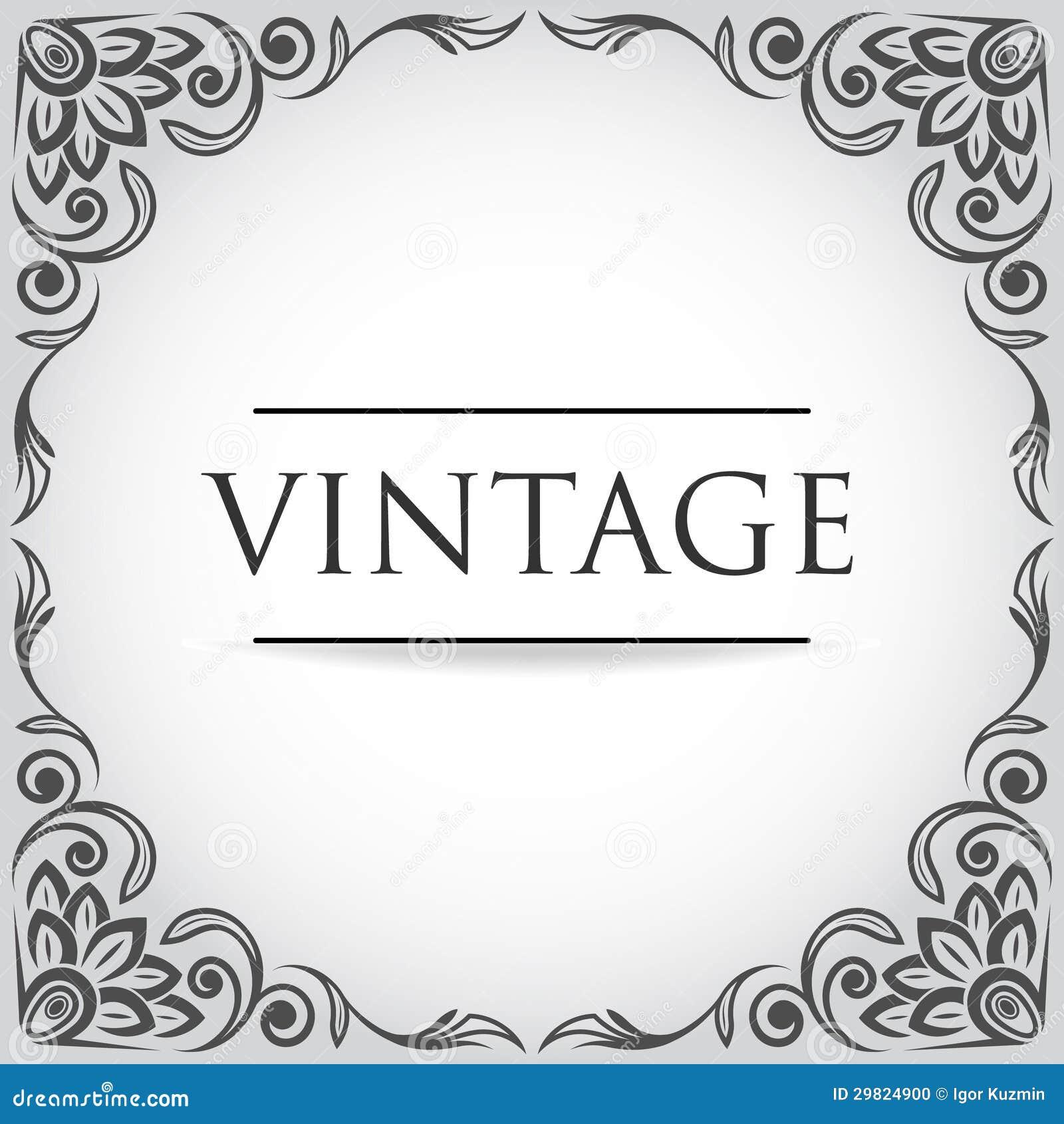 Vector Vintage Frame Stock Photo - Image: 29824900