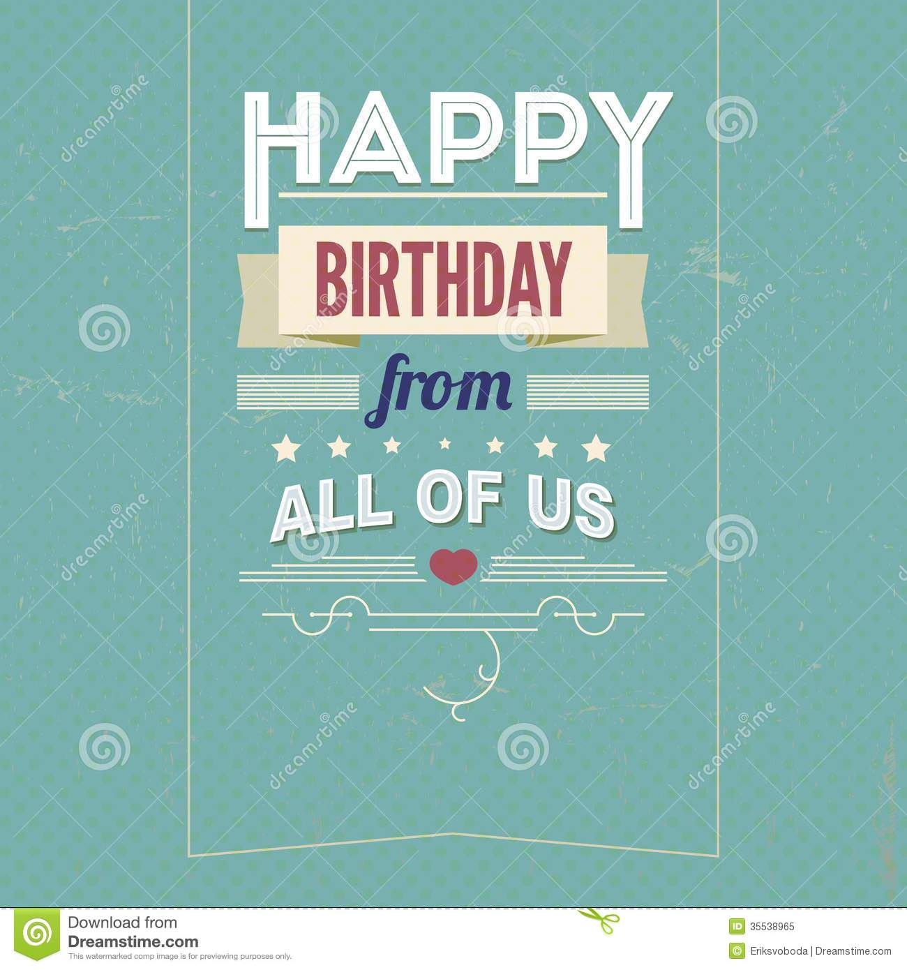 Vintage retro happy birthday card with fonts stock vector vintage retro happy birthday card with fonts bookmarktalkfo Image collections