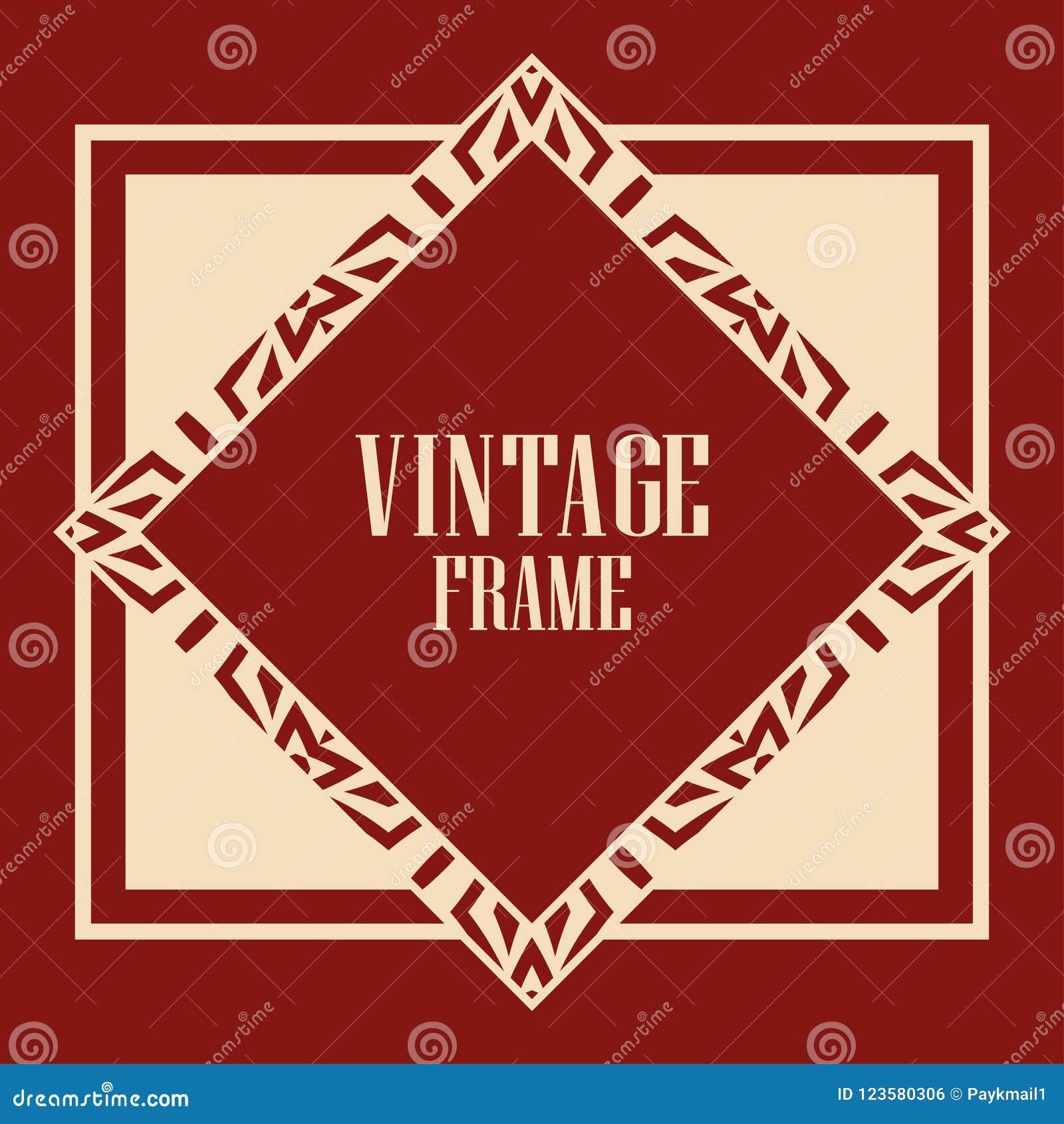 Art Deco Frame stock vector. Illustration of gatsby - 123580306