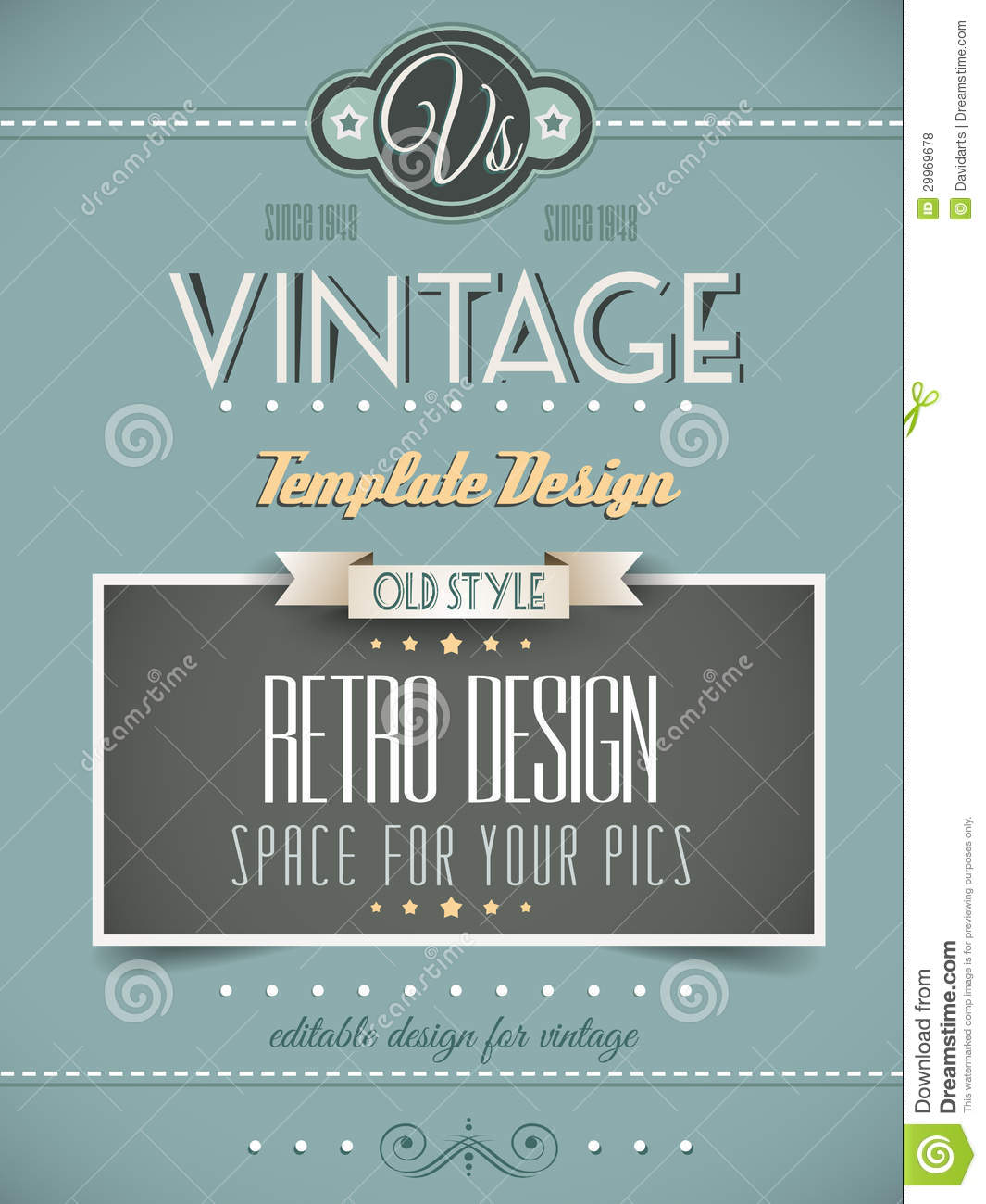 Vintage Book Cover Design Template Free : Vintage retro page or cover template royalty free stock