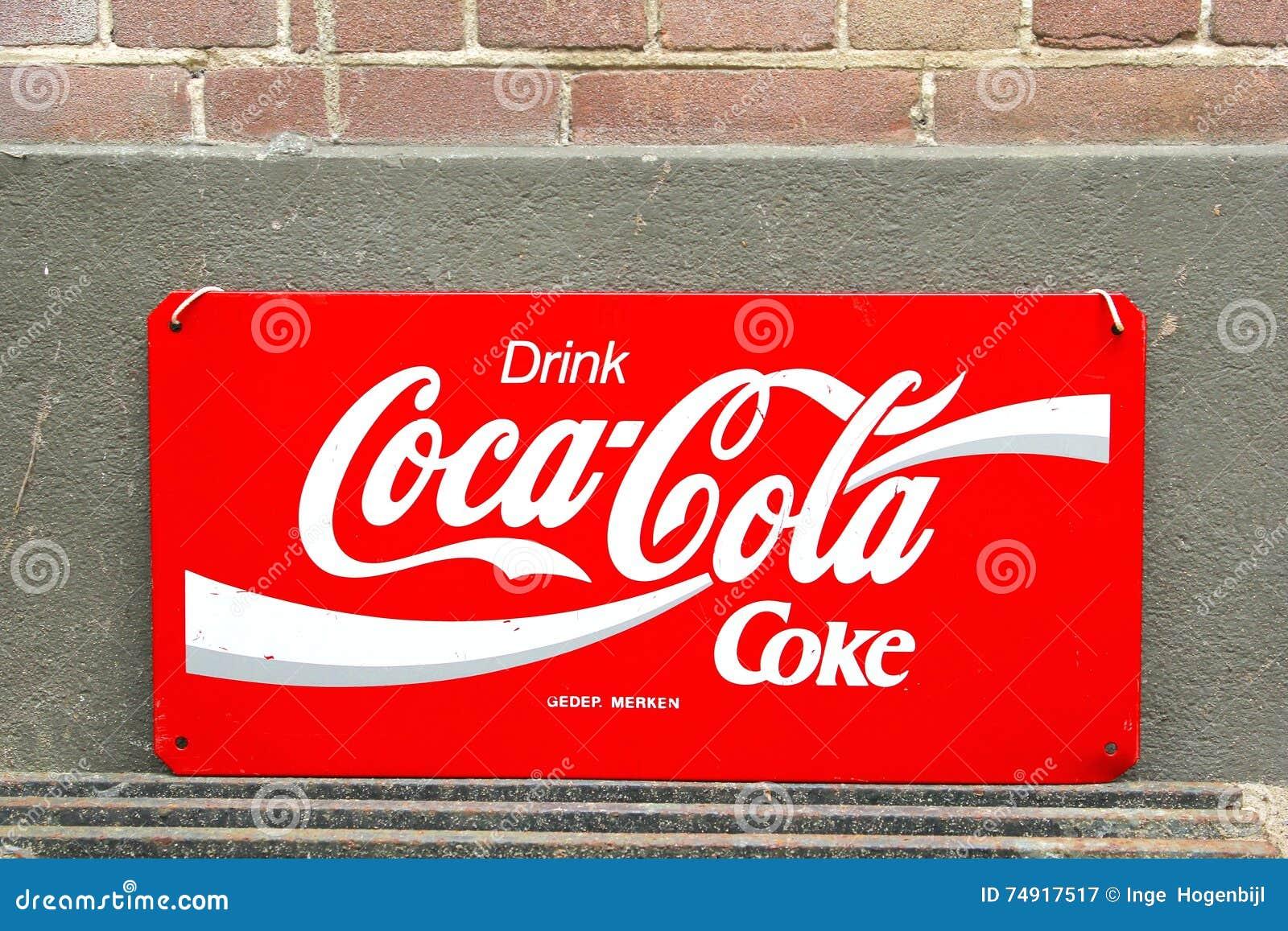 vintage retro signboard coca cola editorial photography image 74917517. Black Bedroom Furniture Sets. Home Design Ideas