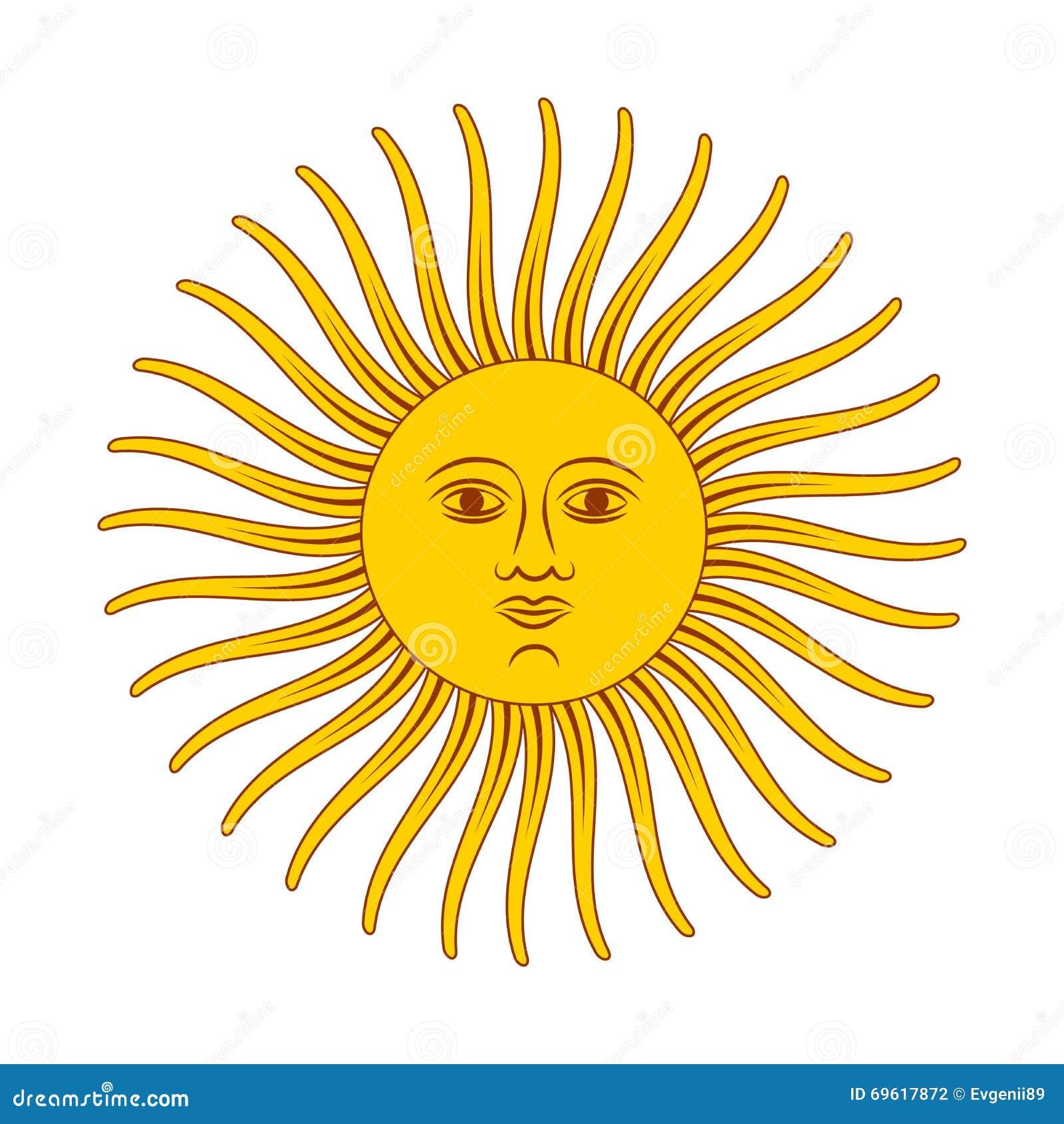 Simple Vintage Sun stock illustration. Illustration of ... |Vintage Sun Illustration
