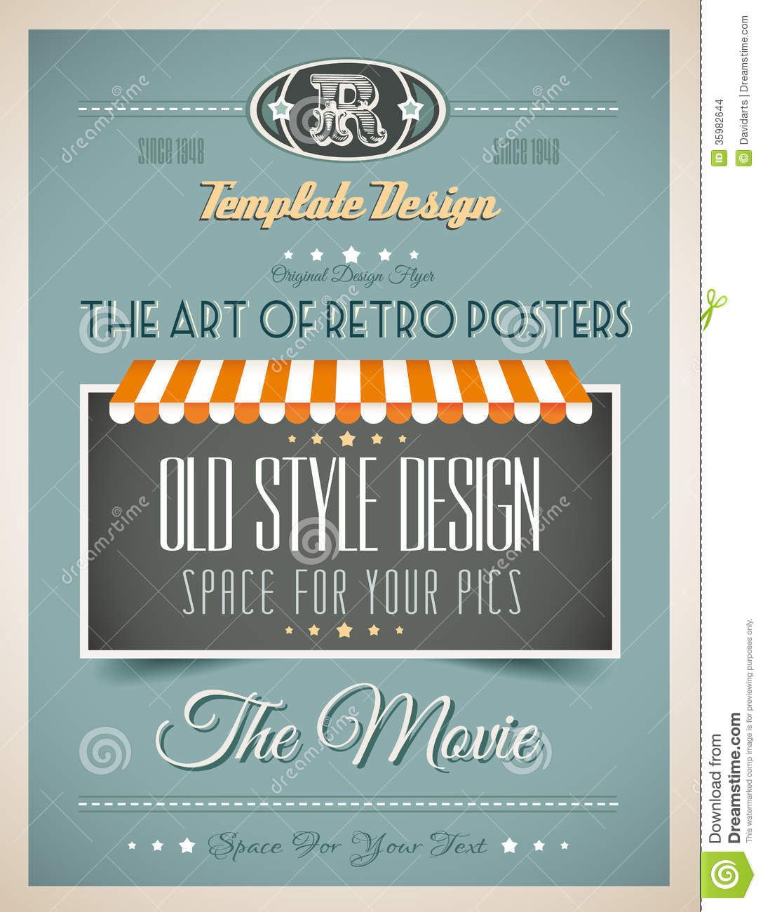 Old Book Cover Posters ~ Vintage retro template for a lot of purposes stock images