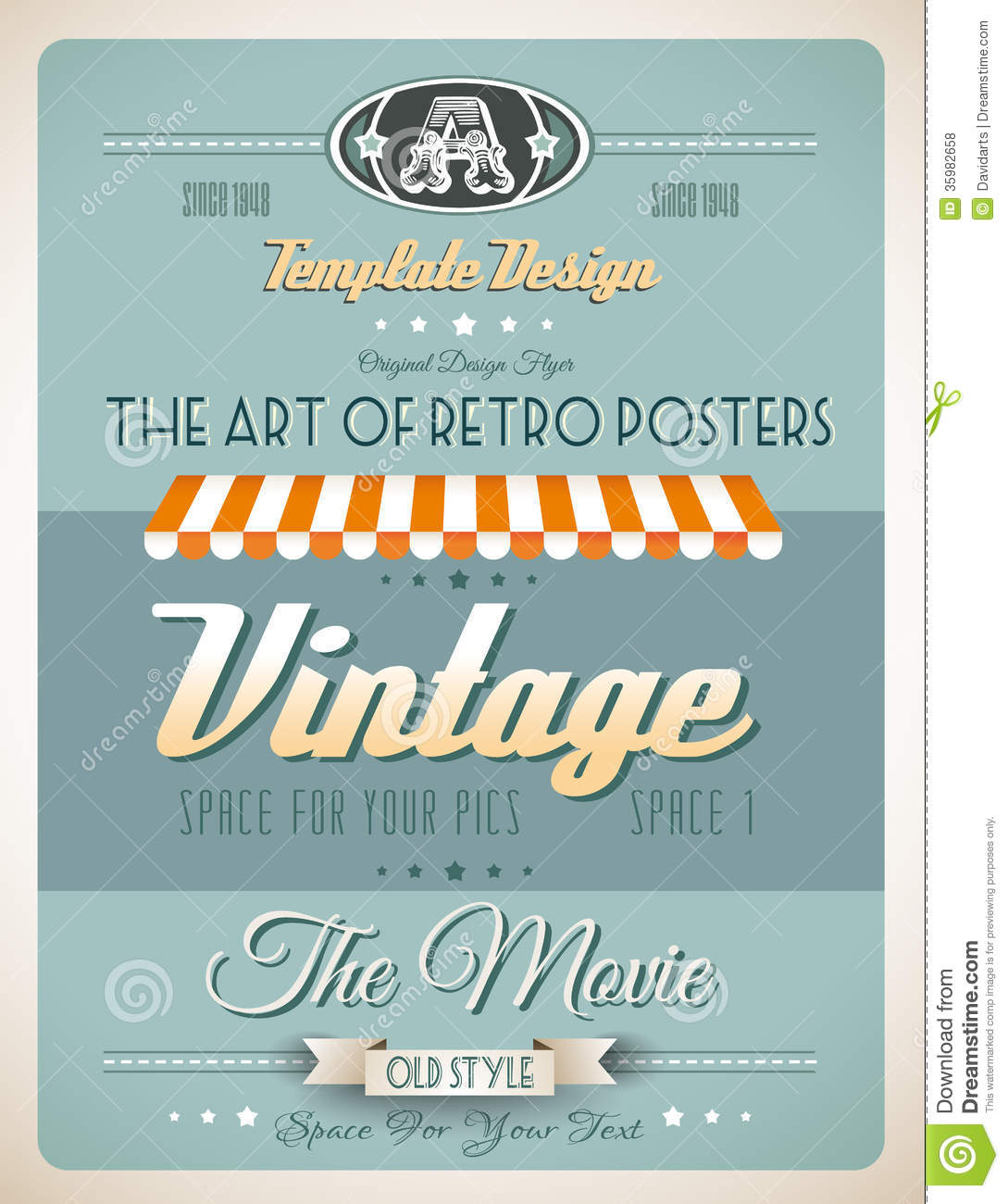 Old Book Cover Posters ~ Vintage retro template for a lot of purposes royalty free